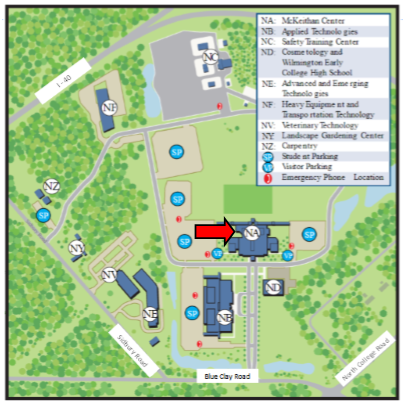North Campus Map of Library