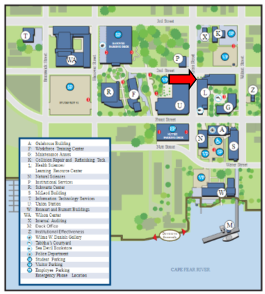 Wilmington Campus Map of Library