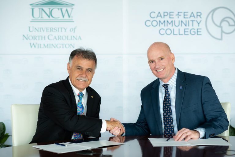 UNCW Chancellor Jose Sartarelli and CFCC President Jim Morton