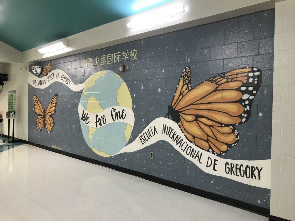 """CFCC Painting I Students """"We Are One"""" Mural"""