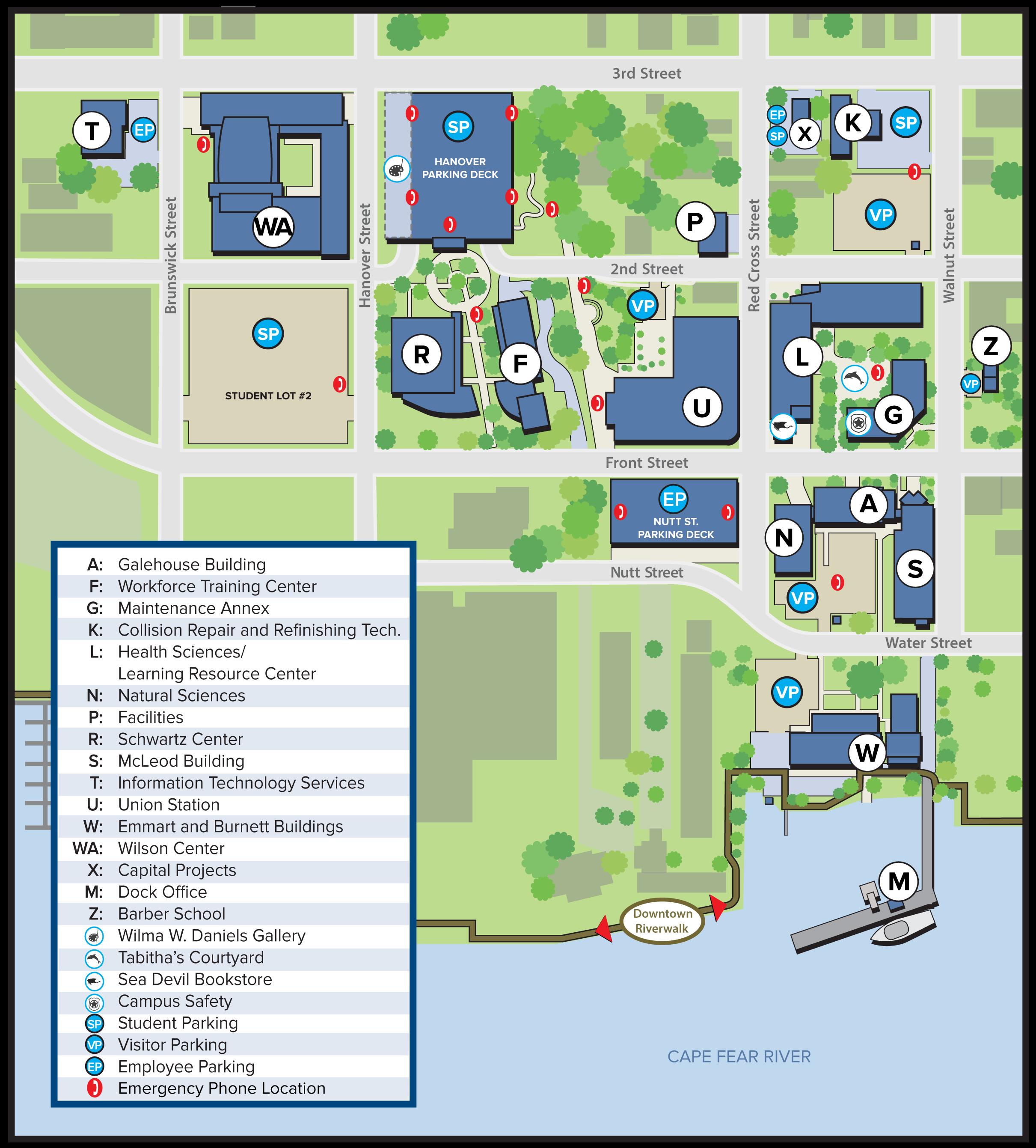 Wilmington Campus Map