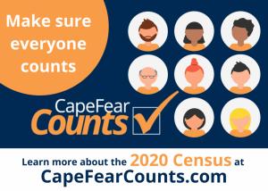Make sure everyone counts. Cape Fear Counts