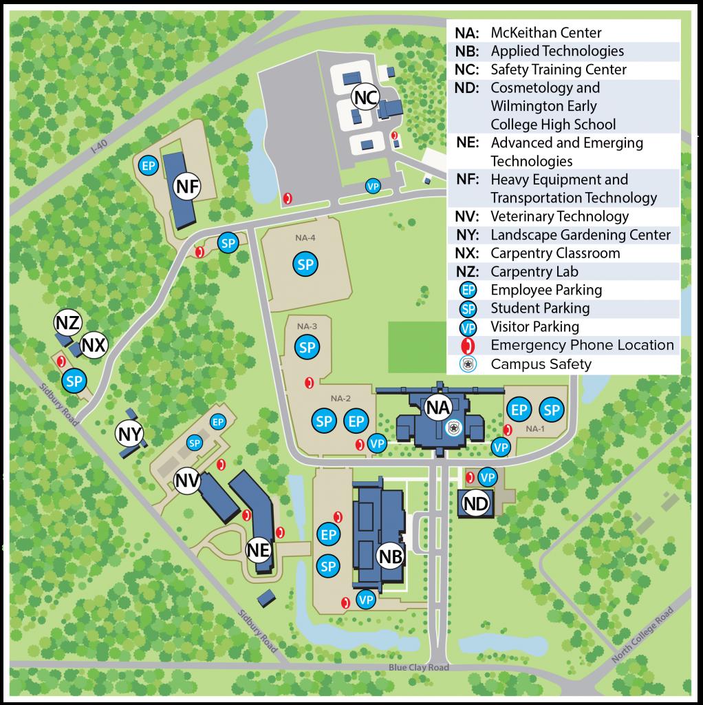 CFCC North Campus Map