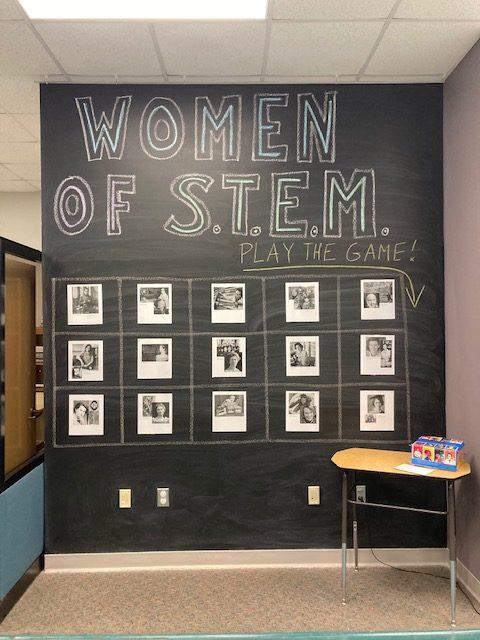 Women of STEM - Chalkwall Display
