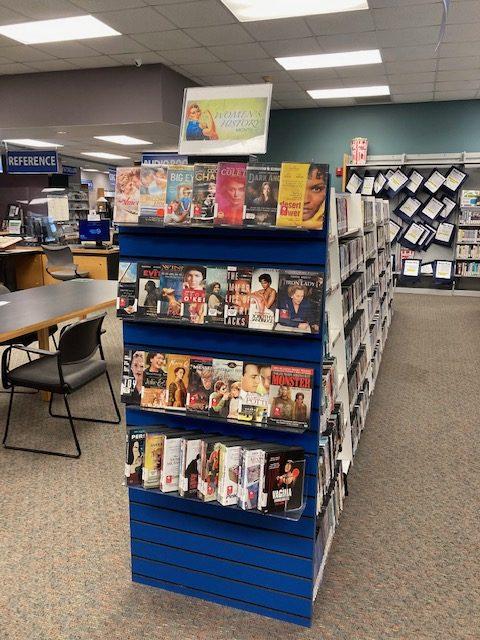 Women's History Month DVD Display