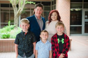 Brandon Williams and family