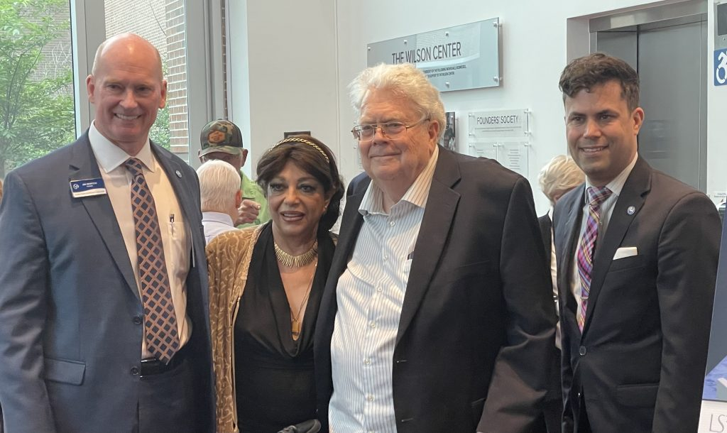 Henry and Roya Weyerhaeuser with CFCC President Jim Morton and Vice President of Advancement and the Arts Shane Fernando